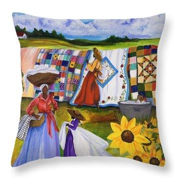 African Woman Throw Pillows