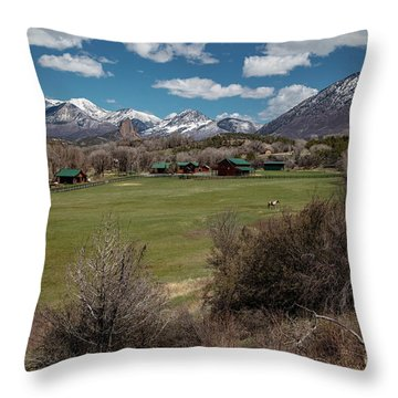 Country Ranches  Throw Pillow