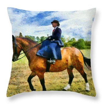 Throw Pillow featuring the photograph Country Ride by Scott Carruthers