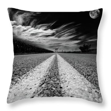 Country Road 51 Throw Pillow