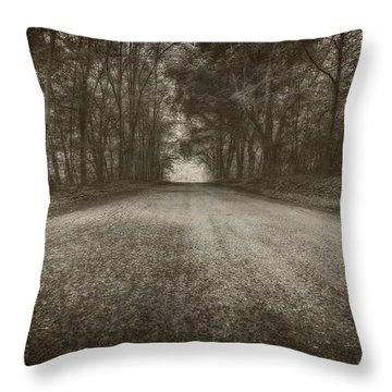 Country Road Throw Pillow by Everet Regal