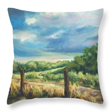 Country Road Throw Pillow by Rick Nederlof