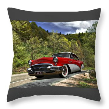 Country Road Throw Pillow by Steven Agius