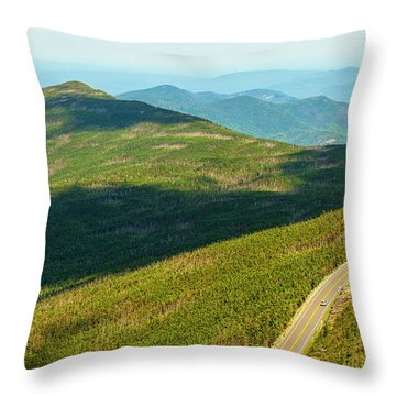 Throw Pillow featuring the photograph Country Road To My Home Whiteface Mountain New York by Paul Ge