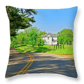 Country Roads Of America, Smith Mountain Lake, Va. Throw Pillow