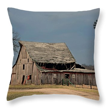 Country Roof Collapse Throw Pillow