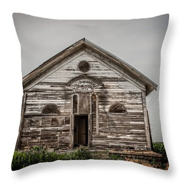 Country School Throw Pillow by Ray Congrove