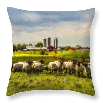 Country Sheep Throw Pillow