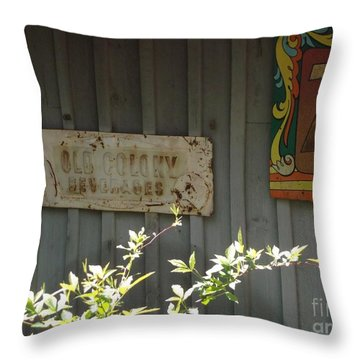 Country Store Throw Pillow by Donna Dixon