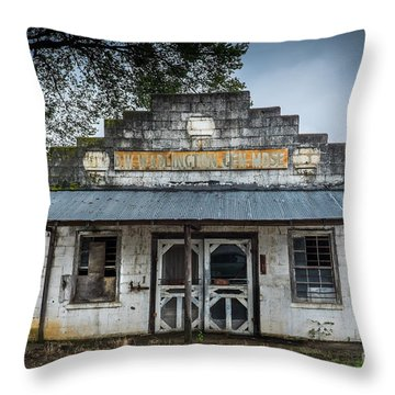 Country Store In The Mississippi Delta Throw Pillow