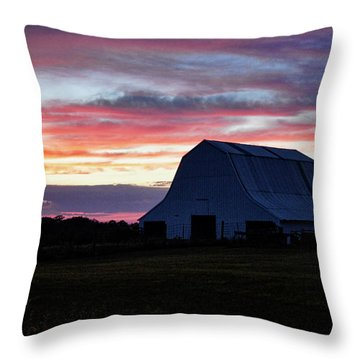 Throw Pillow featuring the photograph Country Sunset by Cricket Hackmann