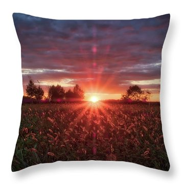 Throw Pillow featuring the photograph Country Sunset by Mark Dodd