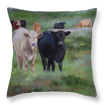 Country Tapestry Throw Pillow
