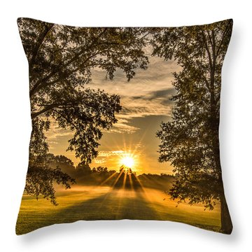 Country Time Rise Throw Pillow