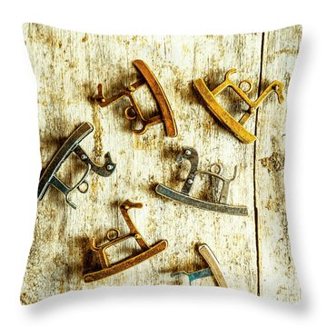 Country Toy Art Throw Pillow