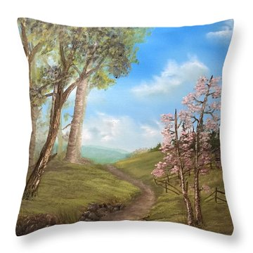 Country Valley  Throw Pillow
