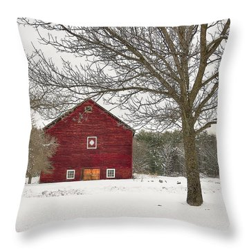 Country Vermont Throw Pillow by Sharon Batdorf