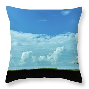 Throw Pillow featuring the photograph Countryside by Andrea Anderegg
