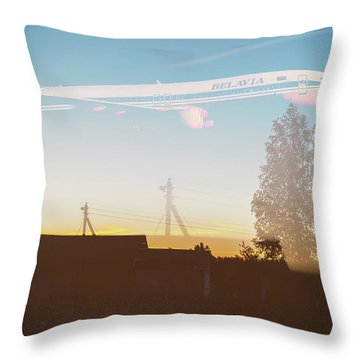 Countryside Boeing Throw Pillow