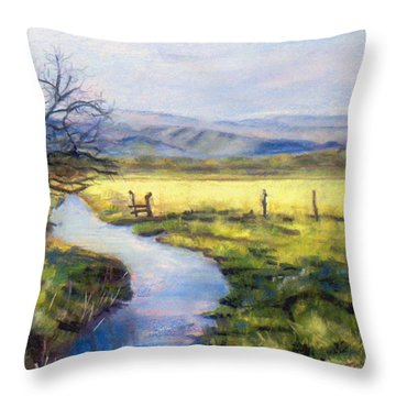 Countryside Throw Pillow by Julie Maas