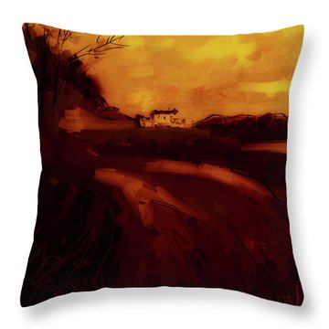 Throw Pillow featuring the digital art Countryside Landscape II by Jim Vance