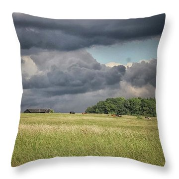 Countryside Storms Throw Pillow