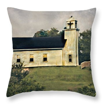 County Chruch Throw Pillow