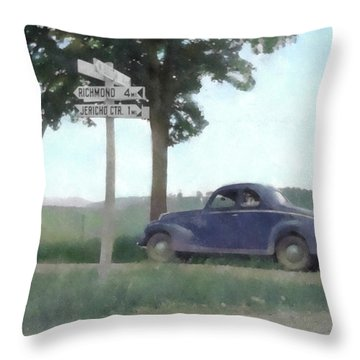 Coupe In The Countryside Throw Pillow