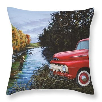 Couple Of Old Timers Throw Pillow