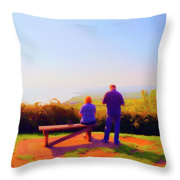 Couple Views Throw Pillow