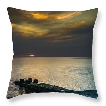 Throw Pillow featuring the photograph Couple Watching Sunset by John Williams