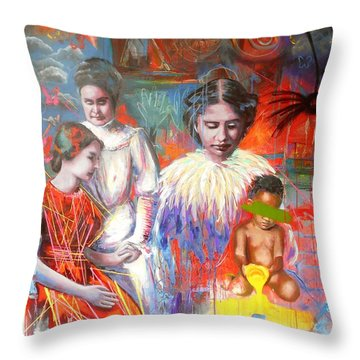 Courage- Large Work Throw Pillow