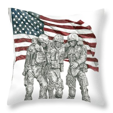 Courage In Brotherhood Throw Pillow