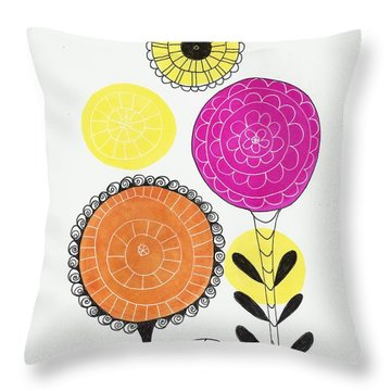 Throw Pillow featuring the mixed media Courage by Lisa Noneman