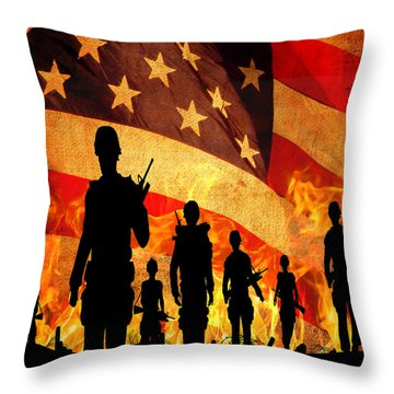Courage Under Fire Throw Pillow