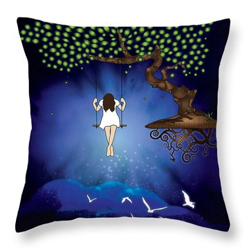 Dreamscape Throw Pillow by Serena King