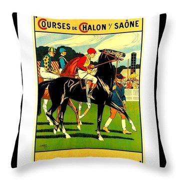 Courses De Chalon French Horse Racing 1911 II Throw Pillow
