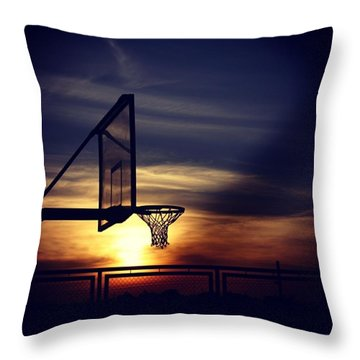 Court Throw Pillow by Jun Pinzon