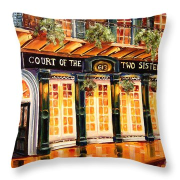 Court Of The Two Sisters Throw Pillow by Diane Millsap