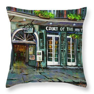 Court Of The Two Sisters Throw Pillow