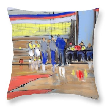 Court Side Conference Throw Pillow