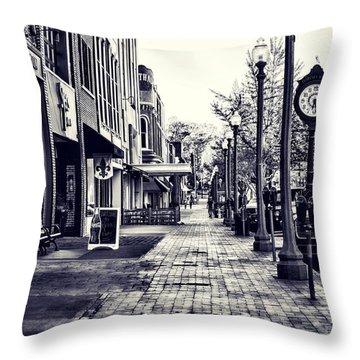 Court Street Clock Florence Alabama Throw Pillow