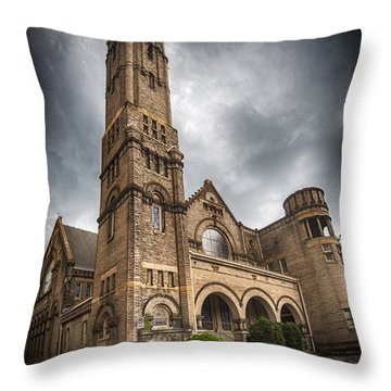 Court Street Umc Lynchburg Throw Pillow by Alan Raasch
