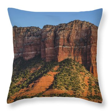 Courthouse Butte At Sunset Throw Pillow