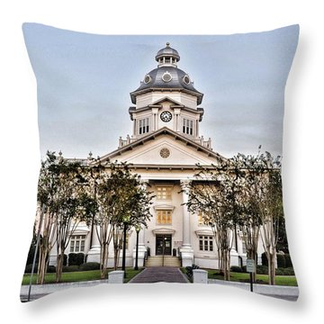 Courthouse In Moultrie Throw Pillow