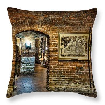 Courthouse Shops Throw Pillow