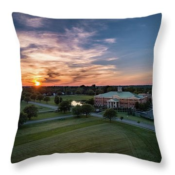 Courthouse Sunset Throw Pillow