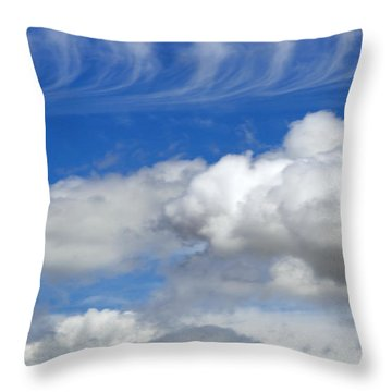 Courting Clouds Throw Pillow by Gwyn Newcombe