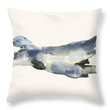 Courting Otters  Throw Pillow by Mark Adlington