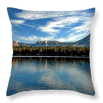 Throw Pillow featuring the digital art Courtright Reservoir by Visual Artist Frank Bonilla
